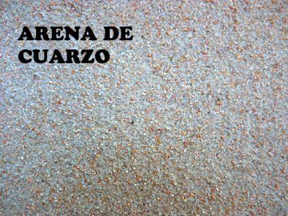 arena cuarzo tamaño muy fino